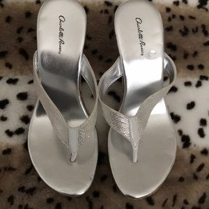 Charlotte Russe wedges silver
